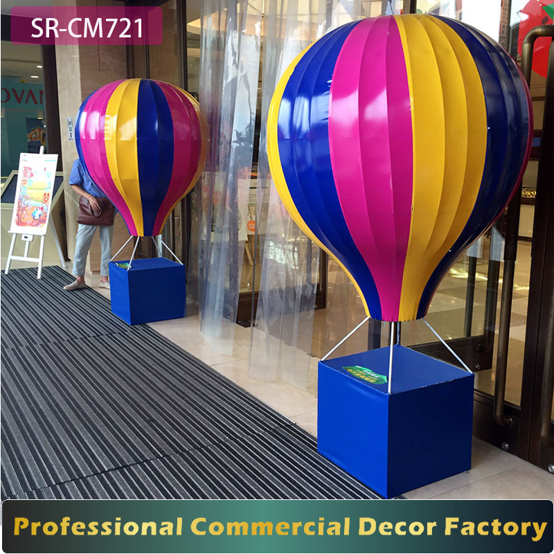 Commercial 1m 2m 3m 5m large foldable hanging air Balloon decoration for shopping mall spring summer decoration