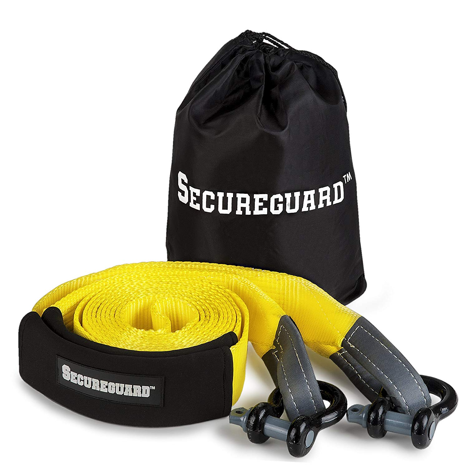 Cheap Tow Rope Heavy Duty Find Deals On Line At Ski Harness Get Quotations Secureguard Extra Strap Rated For 30000lbs 20 Feet Long