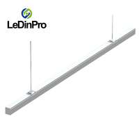 Good price trunking light track rail linear led light for supermarket lighting