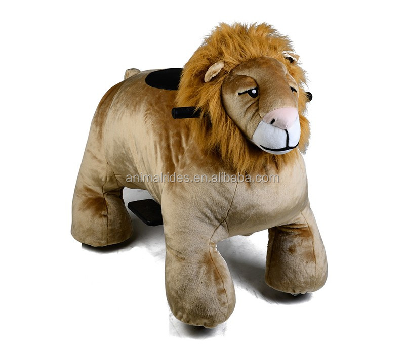 MZ5936 mechanical lion animal perfect toy for kids on mall walking plush electric animal ride