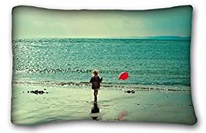 "Generic Children's Nature Beaches sunrise beach sand balloons little girl children sea Nature Beaches Size 20""X30"""