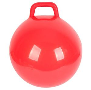 Wholesale price bulk 22/25/38/40/45/50/55/60/65/75 cm custom logo PVC space jumping ball bouncy hopper ball with square handle