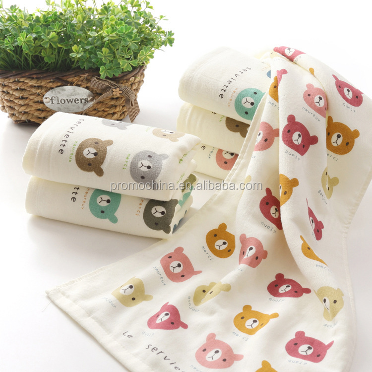 Wholesale Custom High Quality Promotional Gift Organic Cotton Face Towels