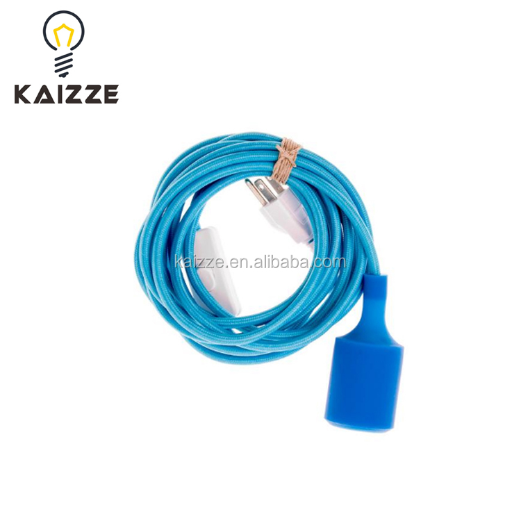 Silicon Socket Plug-in Pendant Light With Textile Cable Cord - Buy ...