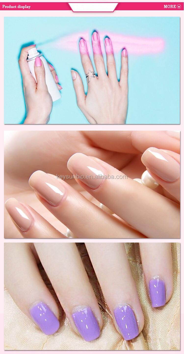 Oro Aerosol Color Esmalte De Uñas Con Esmalte De Uñas Transparente ...