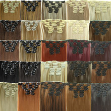 2015 New Available Hairpiece 23inch 140g 6pcs/set Synthetic Hair Styling 16 Clips in Hair Extensions clip Straight Hair Piece