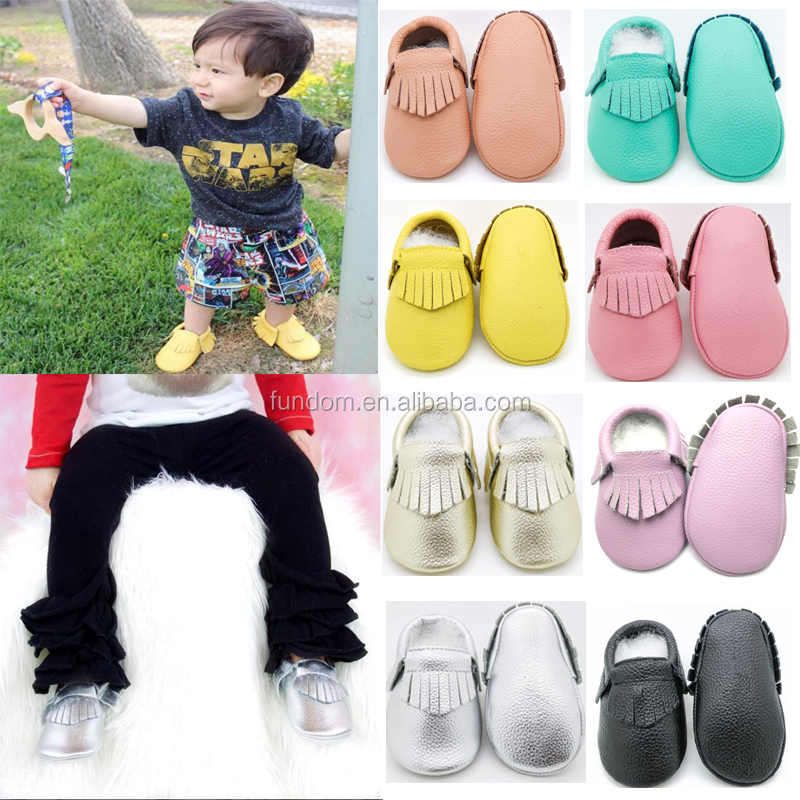 wholesale shoes baby moccasins soft 100% cow leather baby shoes for soft sole baby shoes