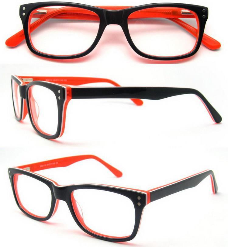 Monturas ópticas de gafas de 3 colores de acetate de moda/Marcos ...