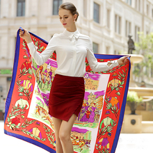 Factory Price OEM Printed Silk Scarf Best Silk Scarf Thick Silk Scarf With Multi Function R299