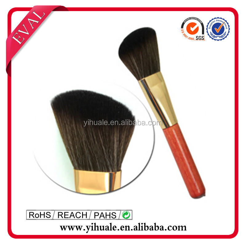 high-end goat hair professional angular blush brush for makeup powder cosmetic brush