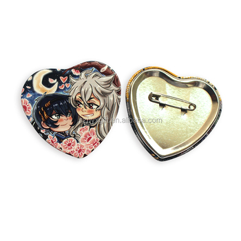 Heart Shaped Design Metal Button Badege/pin Badge/badges - Buy Button  Badge,Metal Pin Badge,Heart Button Badge Product on Alibaba com
