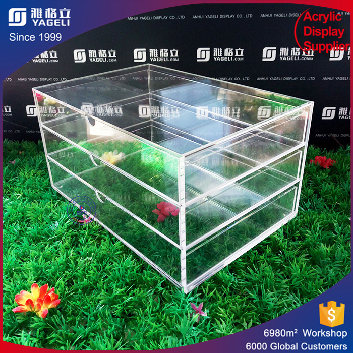 Professional acrylic factory acrylic adjustable cosmetic drawer dividers