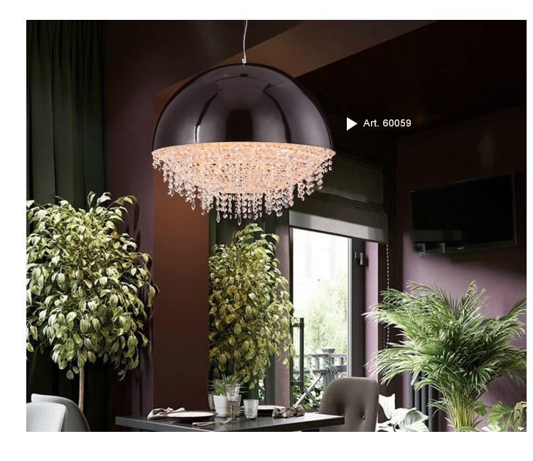 Modern Crystal Chandelier in Clear Color