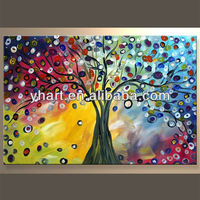 Hand paint oil painting of tree abstract large wall paintings hand made wall art pictures for hotel