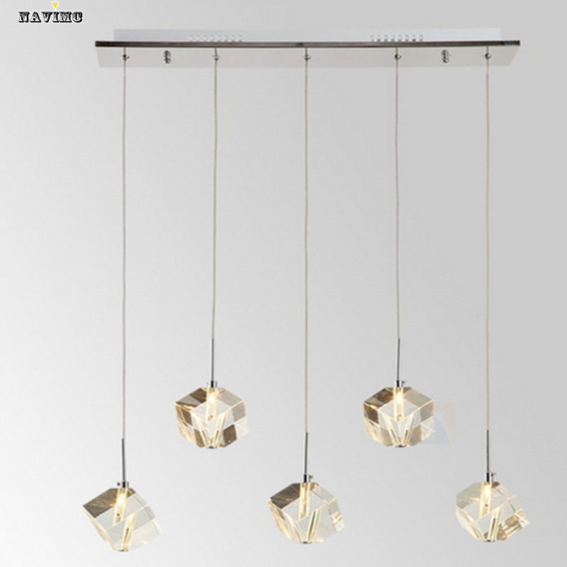 Contemporary Crystal Pendant Lighting Fixtures Bar Modern