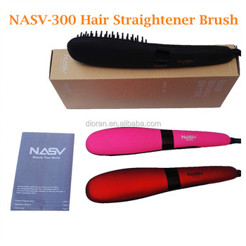 Fast Hair Straightener Combs LCD Electric Professional Hair Straightener Brush NASV-300 Straightening Comb
