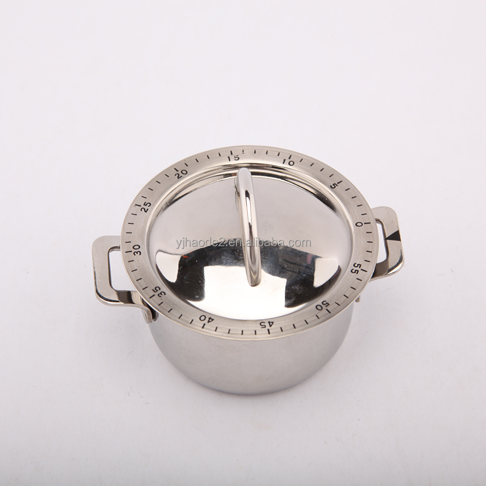 Stainless Steel Cooking Tool Mechanical pot Kitchen Cooking Timer 60 Minutes Kitchen Timer