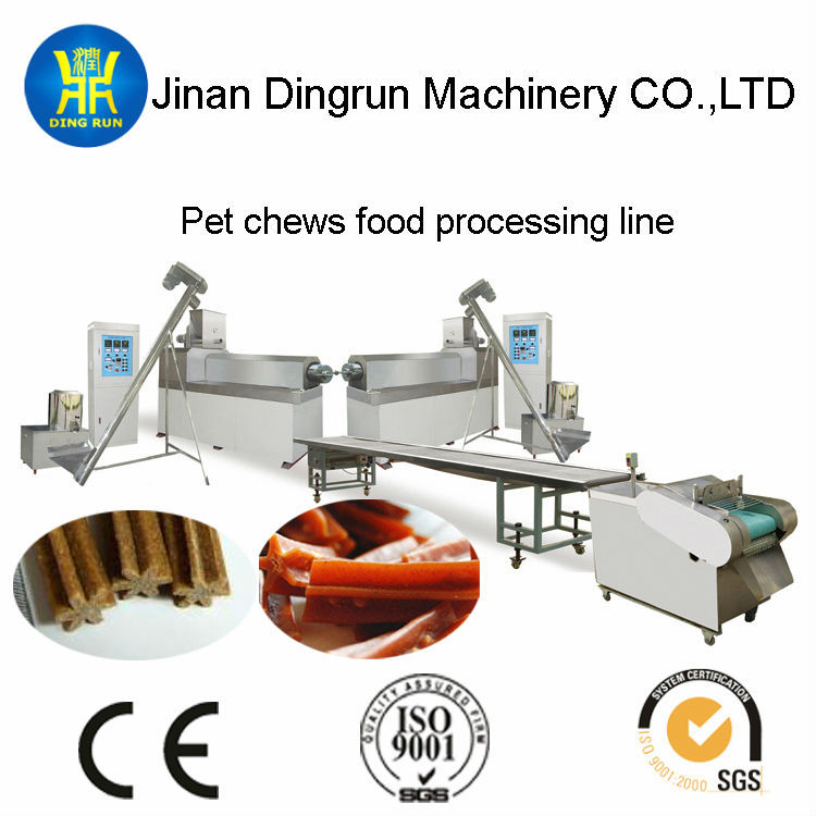 New Condition and PET,ANIMAL Application pet dog chewing snacks food processing machine