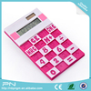 easy carry solar powered 8 digit desktop silicone foldable calculator