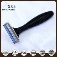 Best Quality Plastic Rubber Handle Disposable Two Blades Shaving Razor For Hotel