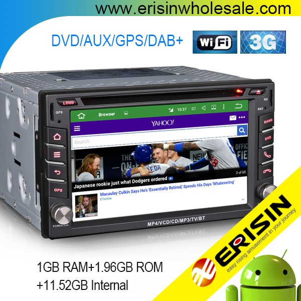 "Erisin ES4610N 6.2"" Universal Android 2din Touch Screen Car Autoradio GPS Bluetooth DVD GPS DAB+"