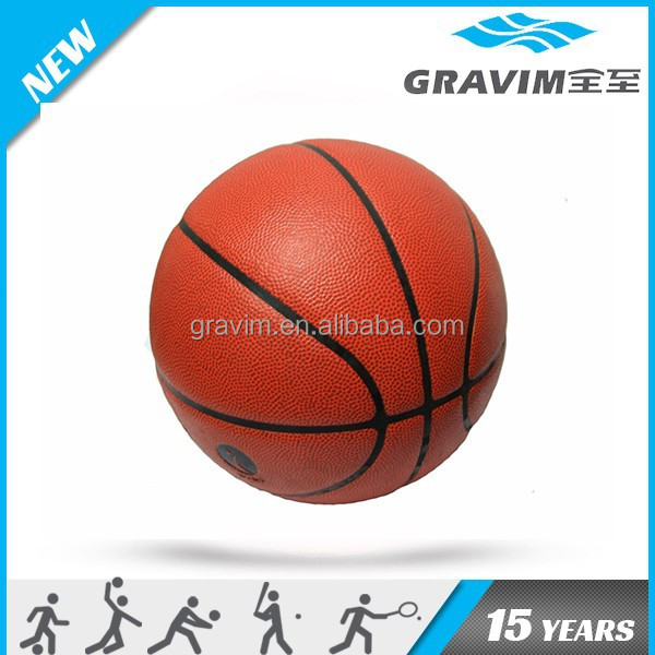 Leather laminated PU Basketballs in match