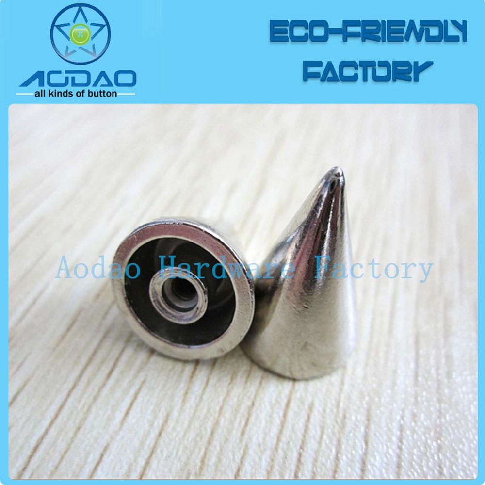High end quality clothes accessories custom cone spike rivets factory directly
