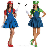 New design game role Super Mario girl cosplay dress wholesale