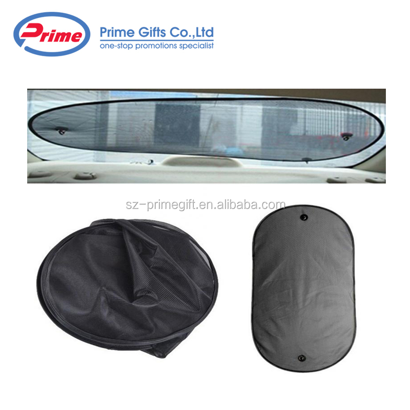 Single Panel Nylon Mesh Car Rear Window Foldable Sunshade for promotions