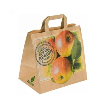 Brown Paper Gift Bags With Handles Bulk For Fruit Buy