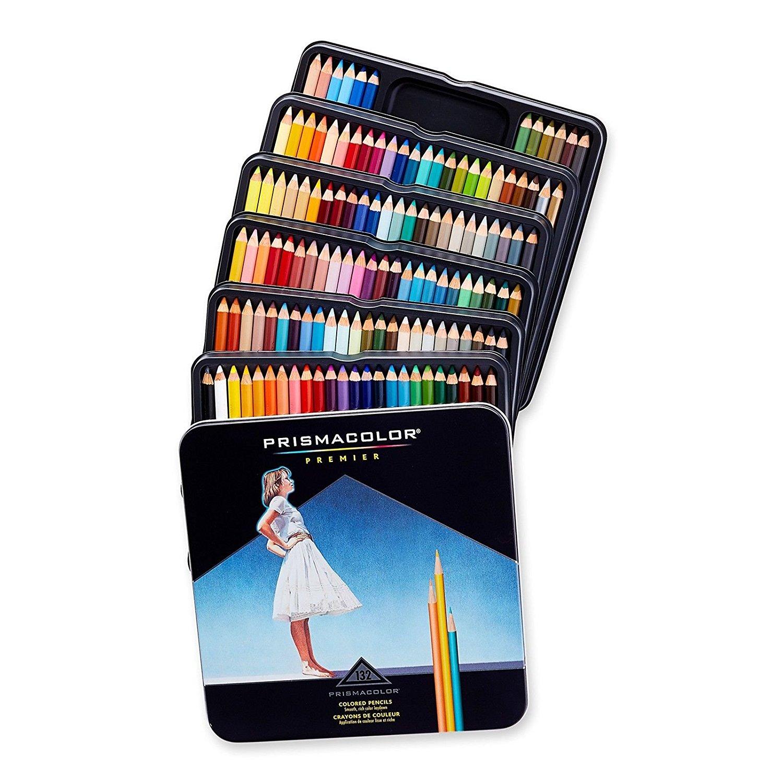 Prismacolor Premier Soft Core Colored Pencils, 132 Colored Pencils (4484), New