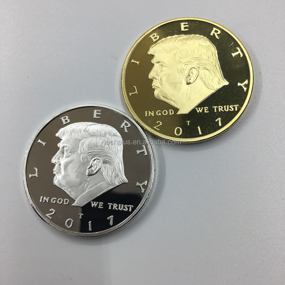 2018 and 2018 cheap metal novelty trump coin
