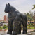 Abstract Fernando  Botero Famous woman Horse Bronze sculpture