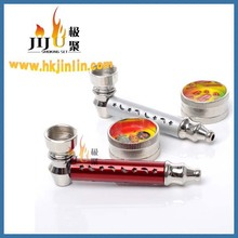 JL-201Manufacturer China Metal Glass Pipes Water Pipes Glass Smoking