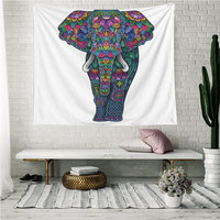 Savvydeco Unique Inexpensive Indian Hippie Elephant Picture Wall Hangings Tapestry