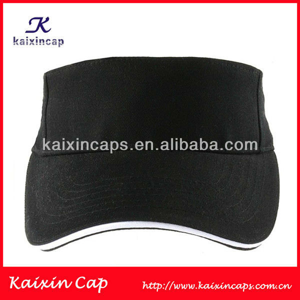 OEM/ODM 100% cotton with all colors sun visor caps with sandwhich pre-curved brim make all custom logo