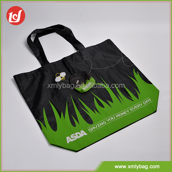 Promotion black and green cheap reusable shopping bags wholesale