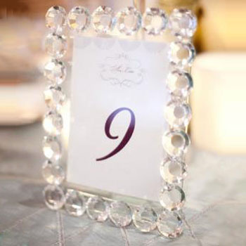 Crystal Sparkle Wedding Table Number Picture Frames Buy Crystal