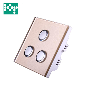 Smart Luxury wall type rf AC 180-260v 433mHz touch wifi dimmer light switch