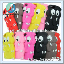3D cute Cartoon animal Elephant colourful silicone case cover for iphone 5 iphone 4 ipod touch 4 and 5