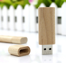 Customized Logo Creative Original Wooden Usb With Box Pendrive 8Gb 16Gb 32Gb Usb Flash Drive Bulk Memory Stick