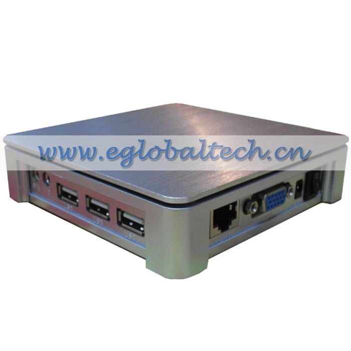 Alloy Metal Case Ultra Thin Client Cloud Computer Terminal, Inbuilt WinCE Economical Personal Computer with 3 USB Port