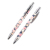 SQ 2018 customized logo unique design stainless steel metal ballpen with full color printing
