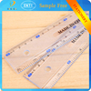 2015 top selling products sale stationery diaphanous 30cm Scrub rule set for school