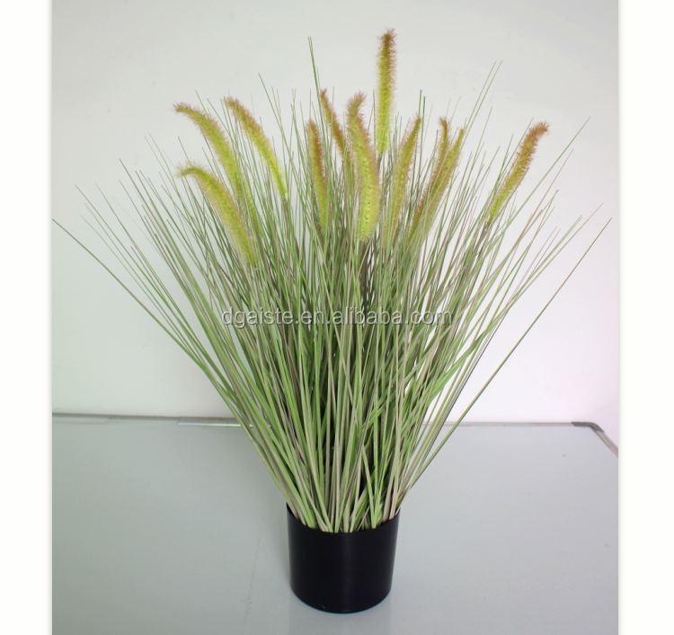 Home Decor Garden Supplies Cat Tail Grass Plastic Fake Plant In Pot