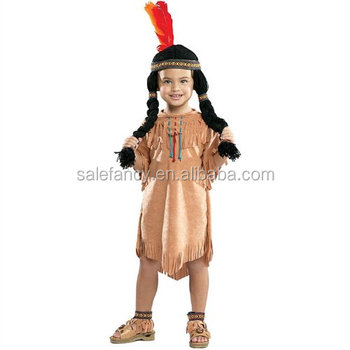 Hot sale indian costume Unique style girl carnival dress girl child costume QBC-9404
