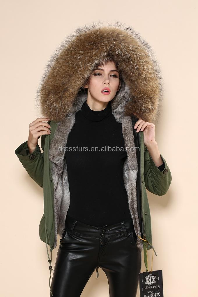 100% Nyata Raccoon Bulu Mantel Pria Keren Jaket Hijau Tentara Parka Sc 1 St  Alibaba.com 04eef65d48