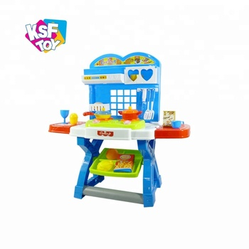 Kitchen Play Set Cooking Games For Girls With Light And Music Buy