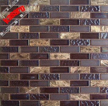 Brick Wall Tiles Glass Stone Mosaic Strip Kitchen