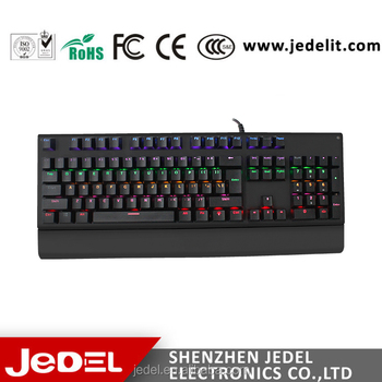 jedel kl50 high quality metal plate mechanical colorful led